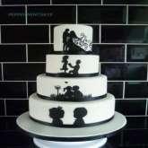 تصميمات مذهلة لكعكة الزفاف