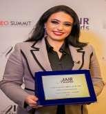 مجلة (IAIR ) تمنح نشوة الرويني لقب أفضل رئيس تنفيذي في مجال الإعلام