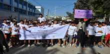 تحت عنوان (اركض لأجل غزة ) مركز معا يختتم سباق اختراق الضاحية