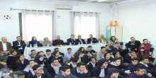 وفد من جامعة النجاح الوطنية يزور مدارس بكالوريا الرواد في نابلس