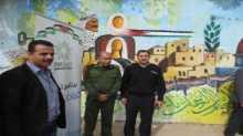 إزاحة الستار عن جدارية الرمزية الفلسطينية في جنين