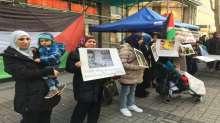 خيام اعتصام في ألمانيا تضامناً مع أطفال فلسطين والصحفي القيق