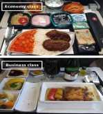 بالصور.. الفرق بين أطعمة الدرجة الاقتصادية والأولى على متن الطائرات