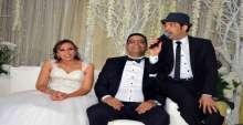 سعد ودينا وياسر جلال فى زفاف رغدة وتوفيق