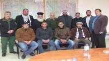 قائد منطقة جنين وطوباس يستقبل عدد من راعي الكنائس ورجال دين وحركة فتح في بلدة الزبابدة