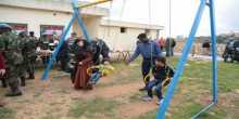 الكتيبة الغانية الدولية تؤهل الحديقة في شيحين