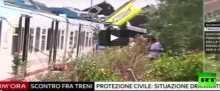 20 قتيلا بحادث تصادم قطارين جنوب إيطاليا