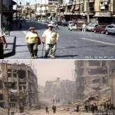 حلب قبل وبعد الحرب
