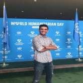 الفنان محمد عساف في الأمم المتحدة في يوم العمل الانساني