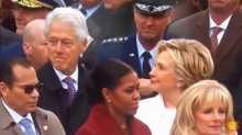 نظرات بيل كلينتون لإيفانكا ترامب
