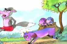 قصة الثعلب والعنزات الصغار