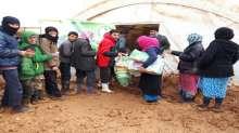 الحملة الوطنية السعودية تقدم المساعدات الاغاثية للنازحين السوريين