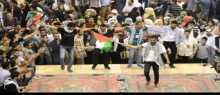 دبكة الجالية الفلسطينية بجامعة العلوم والتكنولوجيا الأردنية