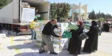 الحملة الوطنية السعودية توزع مساعدات اغاثية للاجئين السوريين
