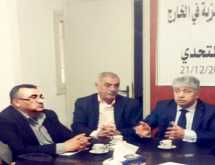 جمال سكاف يلتقي الأمين العام لجبهة النضال الشعبي الفلسطيني