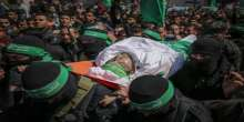 Thousands attend Gaza funeral of Mazen Faqha