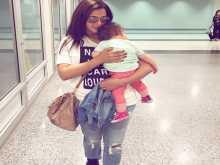دنيا سمير غانم تقلد ابنتها الصغيره كايلا