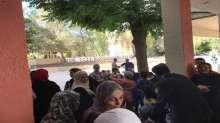 السفير عبدالهادي يزور اللاجئين الفلسطينيين المهجرين من مخيم اليرموك