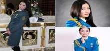 شاهد جميلات كازاخستان بمسابقة ملكة جمال مجندات الجيش