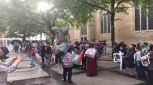 الجالية الفلسطينية بألمانيا تنظم وقفة تضامنية مع المسجد الأقصى