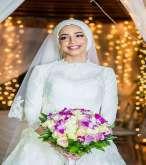 لفات طرح عصرية ومتنوعة للعروس المحجبة