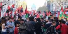 تظاهرة ضخمة أمام السفارة الإسرائيلية رفضا لزيارة نتنياهو بالأرجنتين