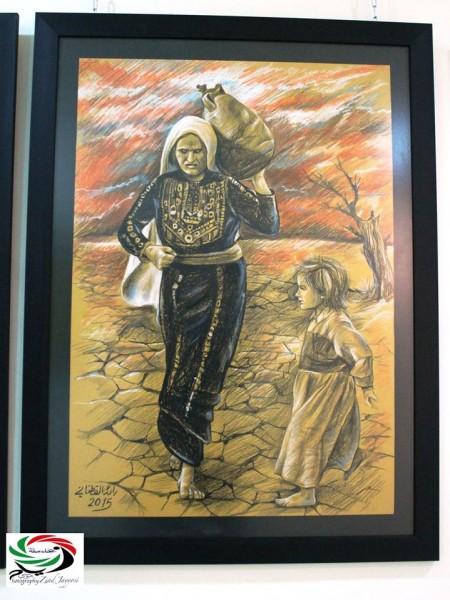 جذور تتألق بريشة الفنان التشكيلي رائد القطناني  بقلم: زياد جيوسي