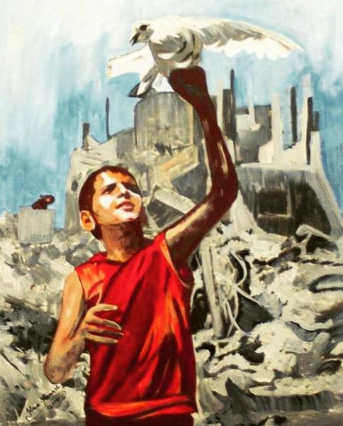 الفنانة هناء حمش تضع فارقاً كبيراً في القضية الفلسطينية لتصبح ممثلة لــ فلسطين