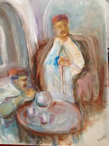 """الرسامة زينب النفزي ضمن """"تجليات"""" بين الوجوه و المشاهد بقلم:شمس الدين العوني"""