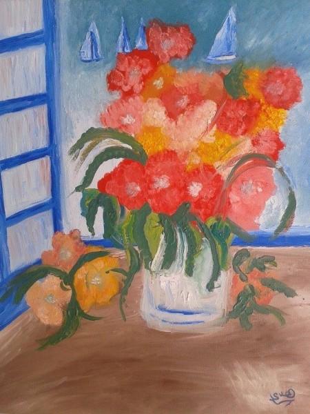 قراءة للوحات التشكيلية التونسية هدى بن عبد الرزاق