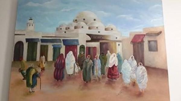 الفنانة سلوى الكعبي في معرض جماعي بالمكتبة المعلوماتية بأريانة