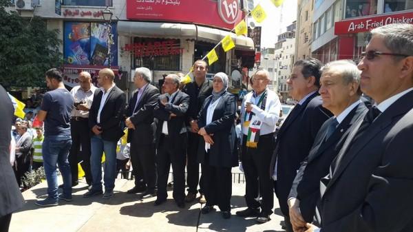 """صورة إستوقفتني : الدكتور """"نبيل شعث"""" والسفراء في وسط المدينة بقلم: د.م. حسام الوحيدي"""