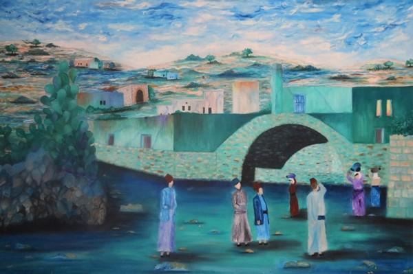 """معرض """" حكايات """" بالناصرة لمرسم محمود بدارنة يحاكي الماضي بكل تجلياته"""