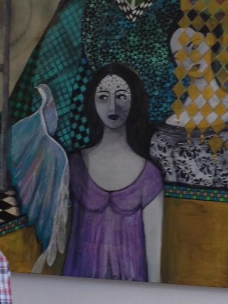الفنانة العكية هدى فودي تلونُ سماءَ جينيف بلوحاتها البديعة