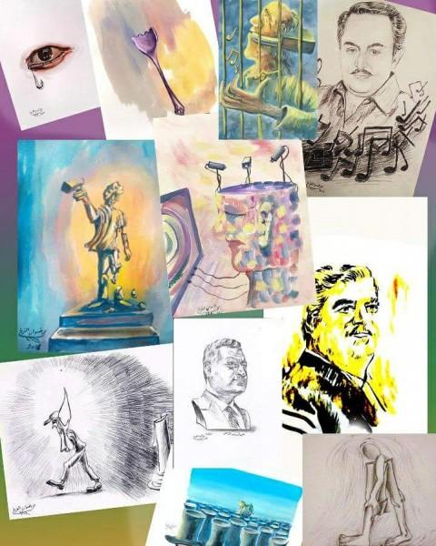 قراءة في أعمال الفنان رضوان الفرخ في محترفه الفني بالعباسية