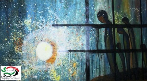 """لوحة """"شذرات أمل"""" للفنانة فجر إدريس"""