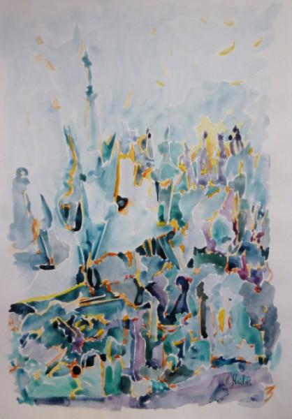 الفنان التشكيلي اللبناني مصطفى حيدر فكرة اللون من عمق العزلة