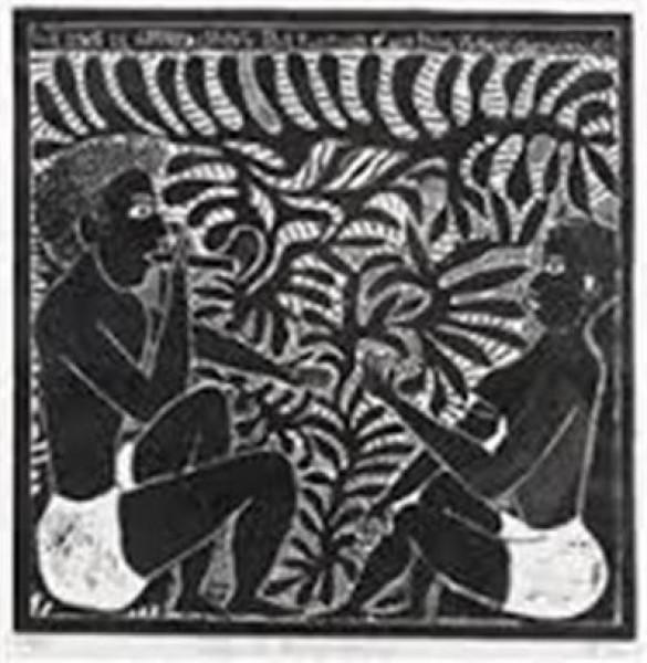 التشكيلي الفلسطيني مصطفى الحلاج والإفريقي جون نديفازيا  جدلية جمالية