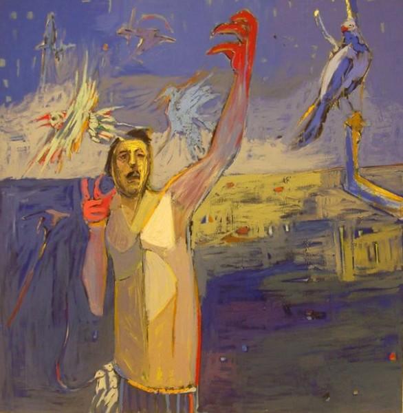 التشكيلي السوري ثائر معروف التجريد والرمزية انتقادات تعبيرية بصرية المواقف عن الواقع والوجود