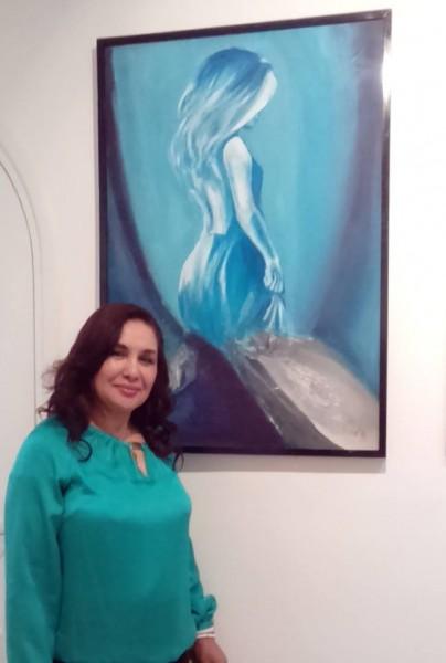 الفنانة التشكيلية سمية رشيد.. عندما يتواجد الجمال لا بد أن يولد الابداع