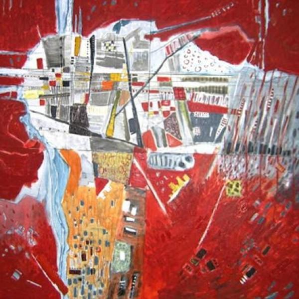 تجربة الفنان التشكيلي قيصر مقداد: تجريد الواقع بكثافة رمزية محاكاة تتداخل مع اللون جماليا