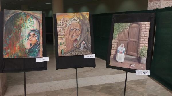 """معرض الفن التشكيلي """" فلسطين الأرض والهوية .. معرض تواصل 5 """""""