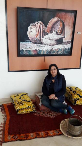 حوار مع الفنانة التشكيلية المغربية سناء شريف بدوي