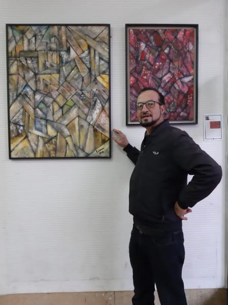 """""""إشعاعات لونية"""".. معرض فردي للفنان التشكيلي عبد اللطيف صبراني بالدار البيضاء"""