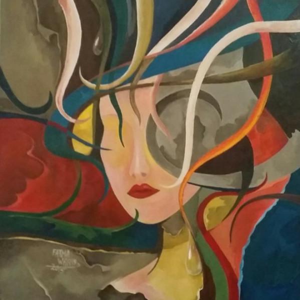 قراءة للوحات التشكيلية السعودية فاطمة وارس الجاوي