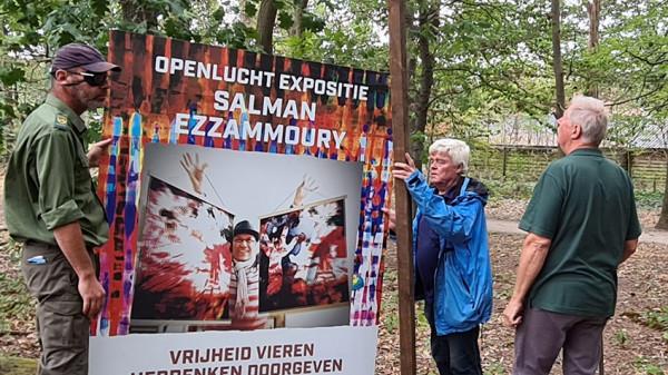 سلمان الزموري يخترق عزلة كورونا بمعرض وسط البراري الهولندية