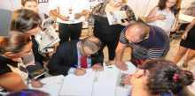 حفل توقيع كتاب غابت الشمس للاعلامي روبير فرنجية