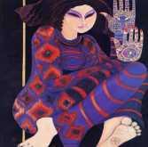 لوحات من أعمال الفنانة ليلى شوا