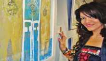 """المراة رمز أصيل للجمال والحب والمقاومة في معرض""""أنا لست دمية"""" للفنانة الفلسطينية ريما المزين"""