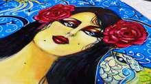 معرض الفنان قصي طارق المساند لحقوق المرأة (ريحانه  جابري) في بيروت